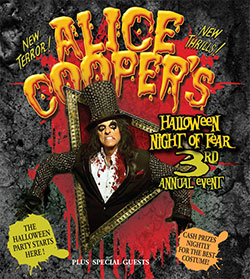 Alice Cooper - Halloween Night Of Fear - 2012 UK Tour Poster