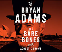 Bryan Adams - Bare Bones - 2014 UK Tour Poster