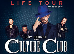Culture Club and Boy George 2018 UK Tour