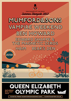 Mumford And Sons 2013 Summer Stampede Poster