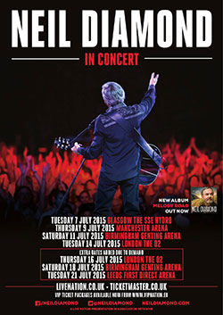 Neil Diamond Tour Dates  Uk
