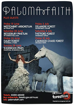 Paloma Faith - 2015 Forest Live Tour Poster