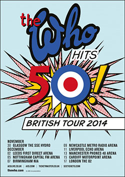 The Who Hits 50 British Tour 2014 Poster